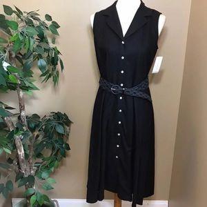 NWT Charter Club Black Button Down Shirt Dress